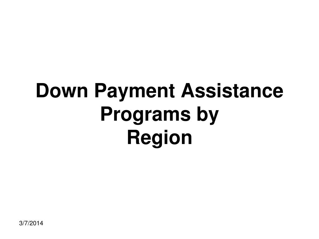 Down Payment Assistance Programs by