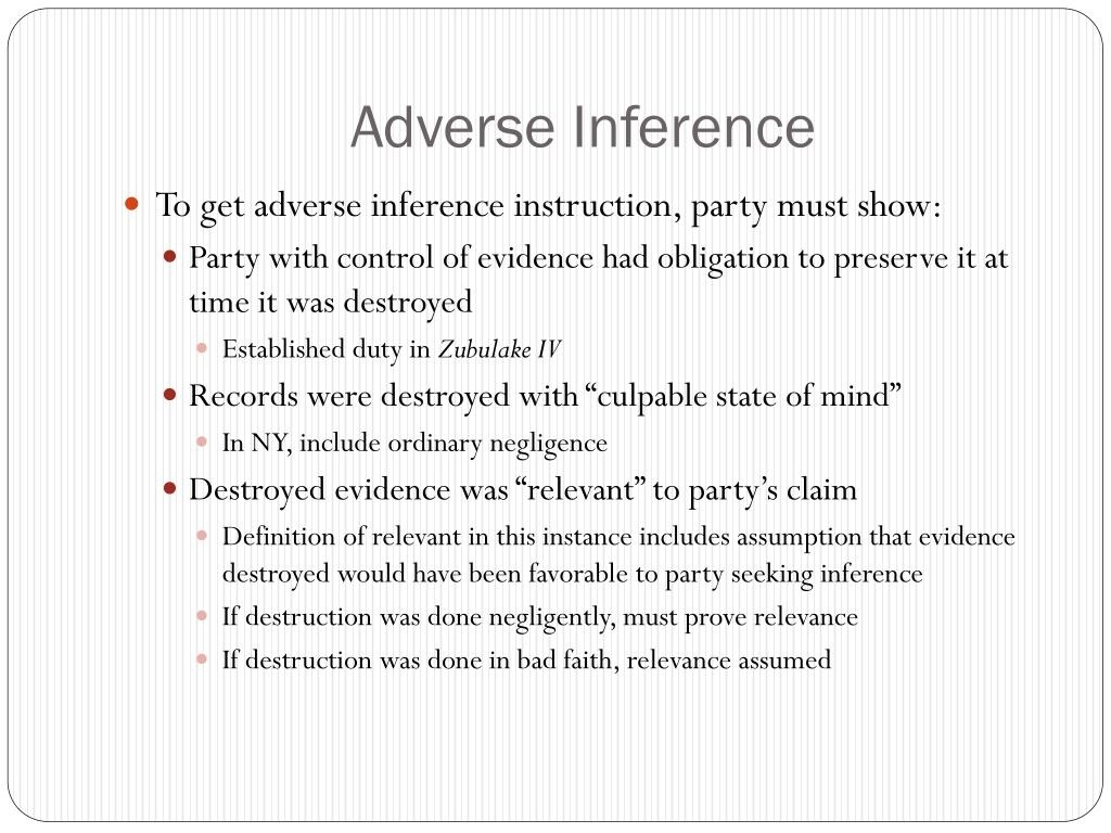 Adverse Inference