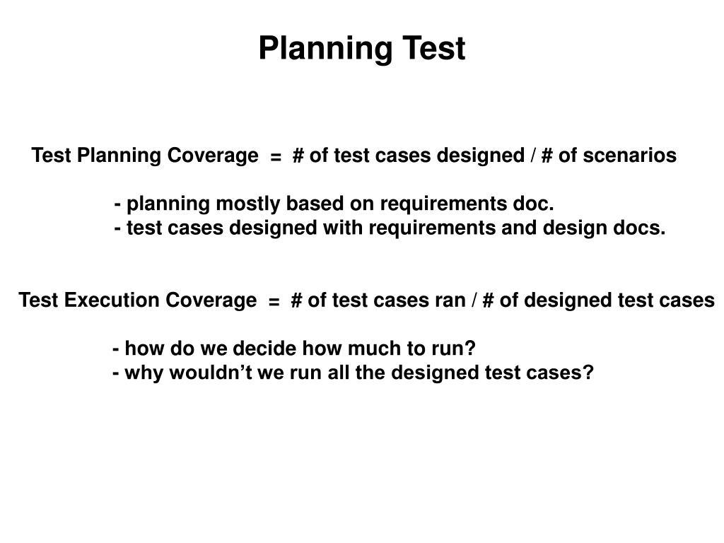 Planning Test