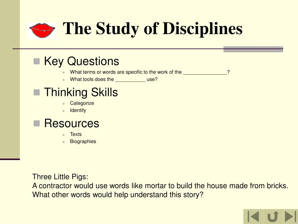 The Study of Disciplines