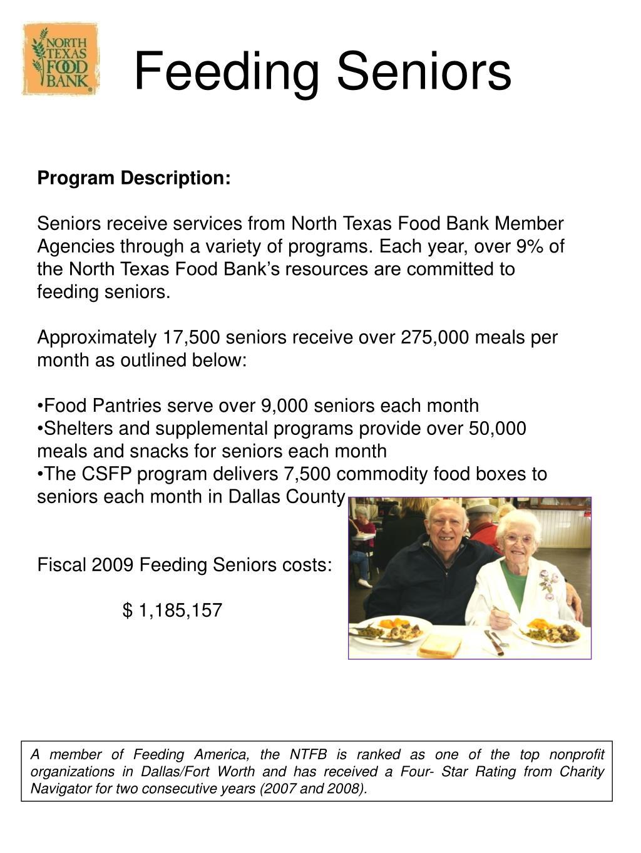Feeding Seniors