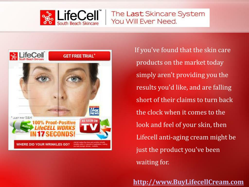 If you've found that the skin care products on the market today simply aren't providing you the results you'd like, and are falling short of their claims to turn back the clock when it comes to the look and feel of your skin, then Lifecell anti-aging cream might be just the product you've been waiting for.