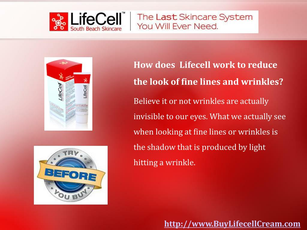 How does  Lifecell work to reduce the look of fine lines and wrinkles?