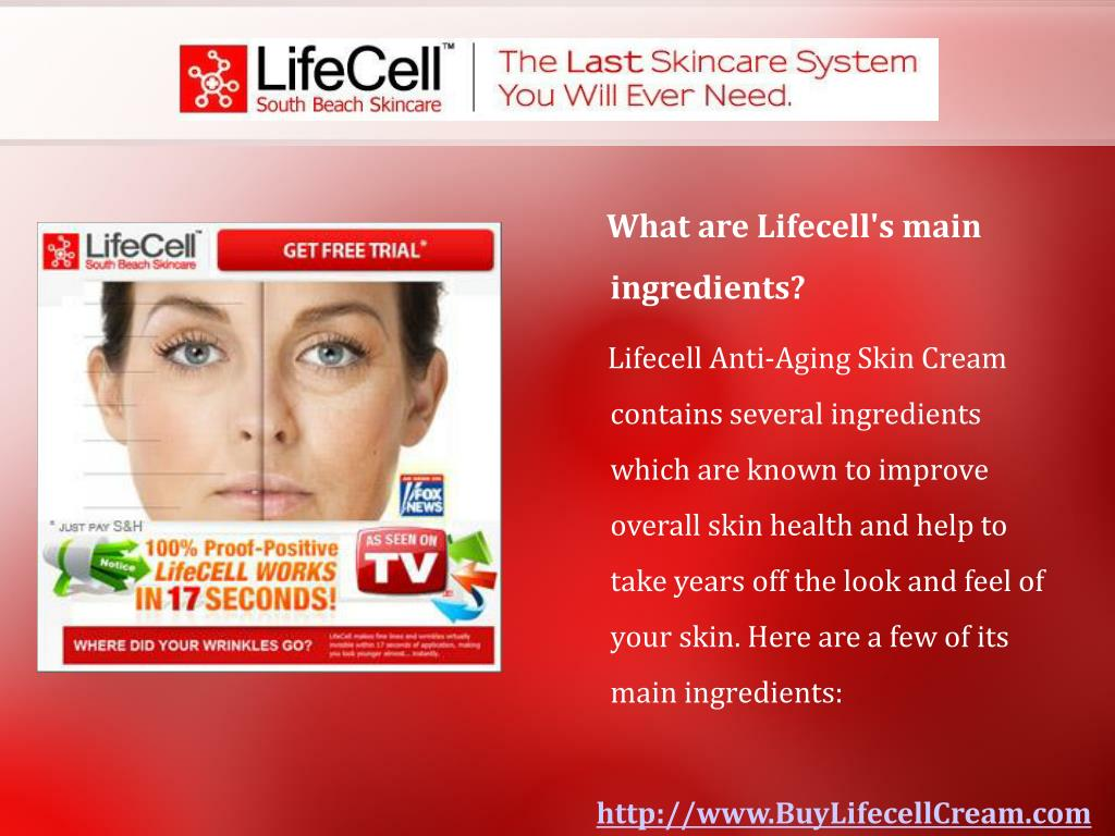 What are Lifecell's main ingredients?