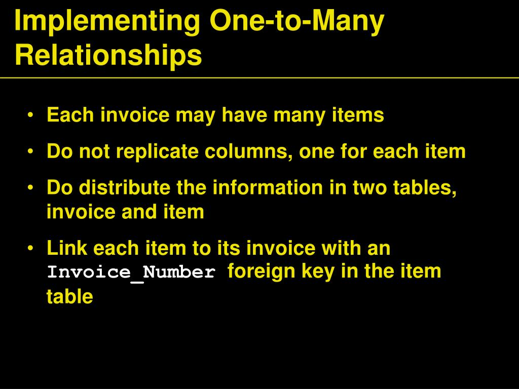 Implementing One-to-Many Relationships