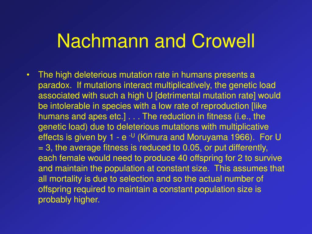 Nachmann and Crowell