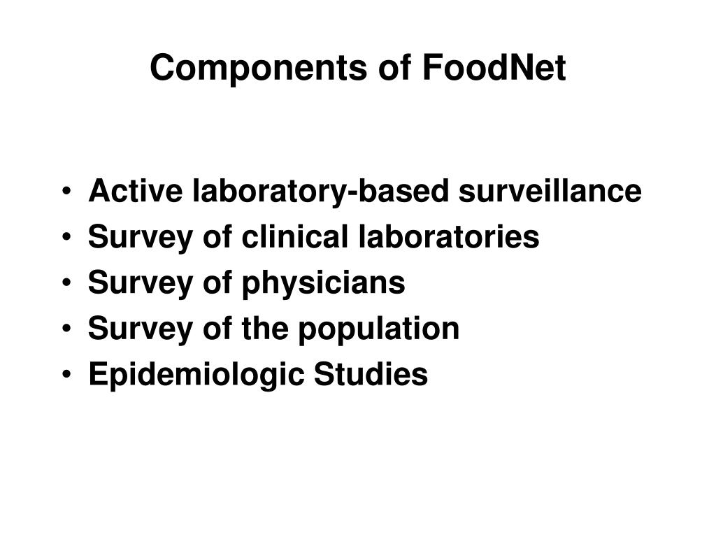 Components of FoodNet