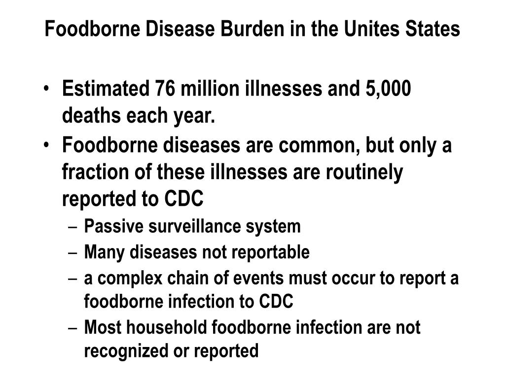 Foodborne Disease Burden in the Unites States