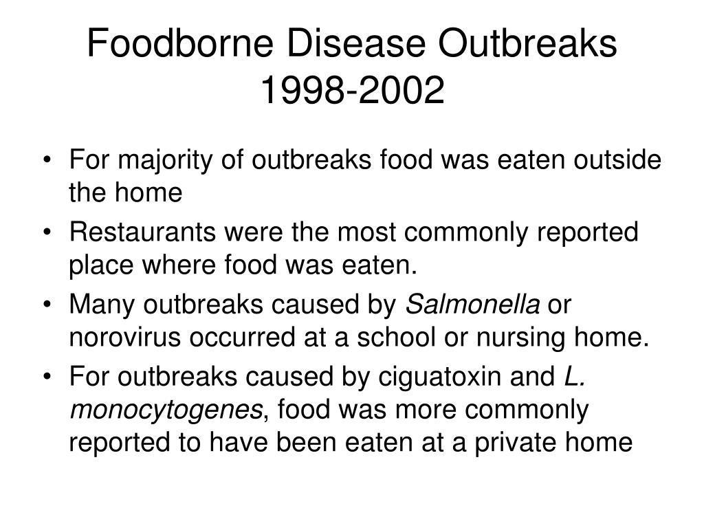Foodborne Disease Outbreaks 1998-2002