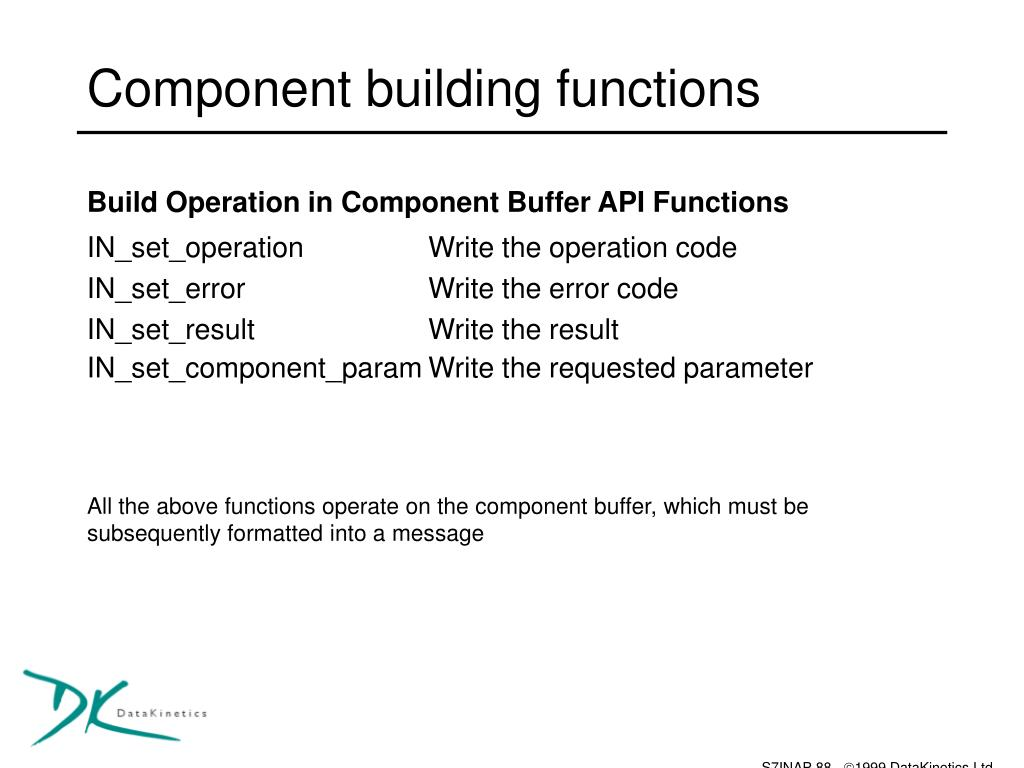 Component building functions