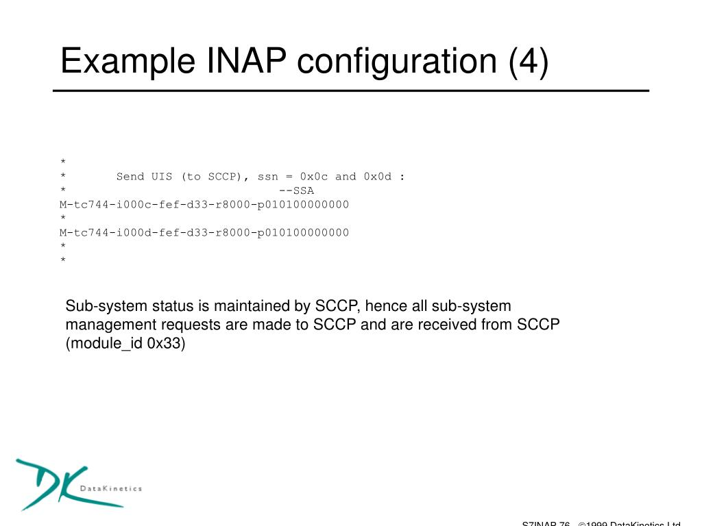 Example INAP configuration (4)