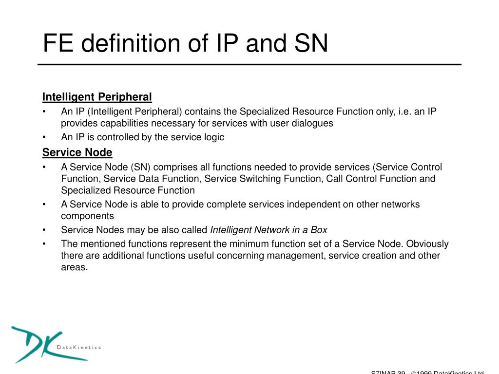 FE definition of IP and SN