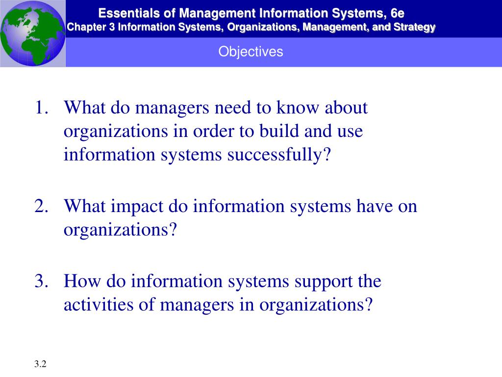 what do managers need to know about organizations in order to build and use information systems succ What do managers need to know about organizations in order to build and use information systems successfully chapter 2 author.