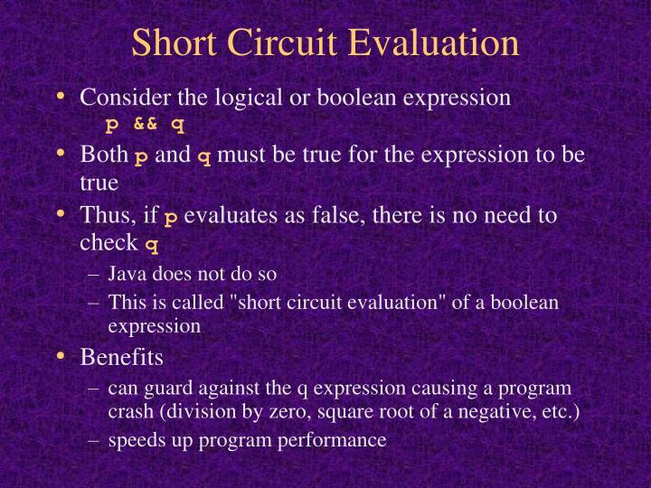 Short Circuit Evaluation