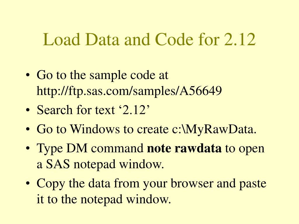 Load Data and Code for 2.12