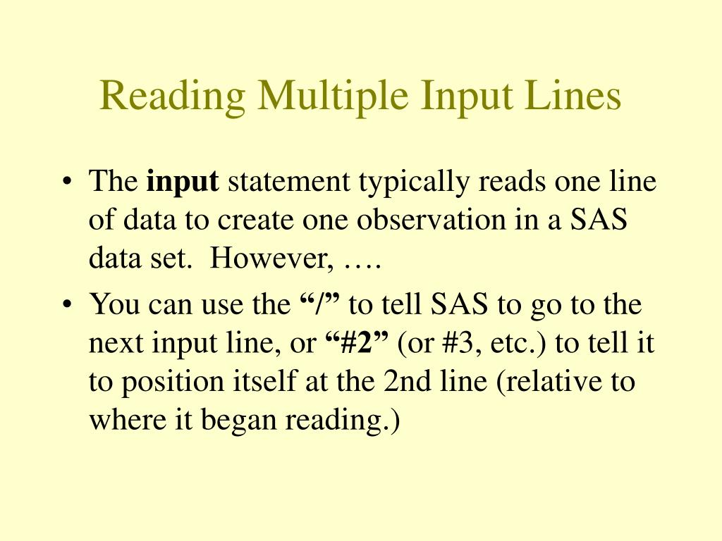 Reading Multiple Input Lines