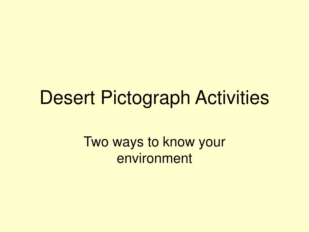 Desert Pictograph Activities