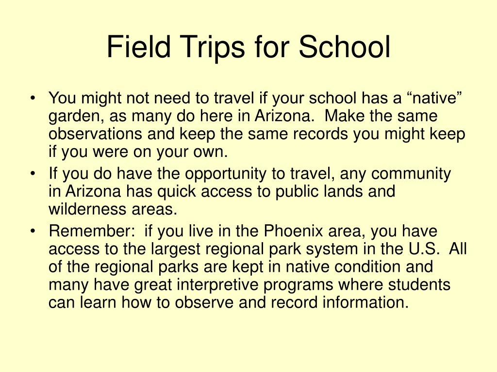 Field Trips for School