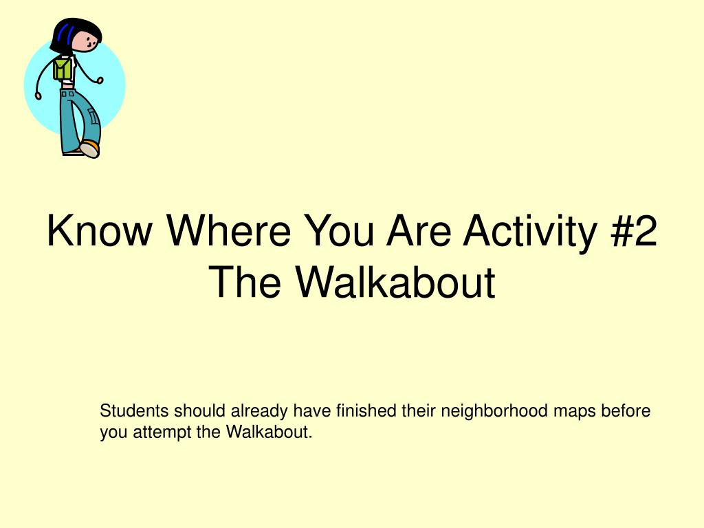 Know Where You Are Activity #2