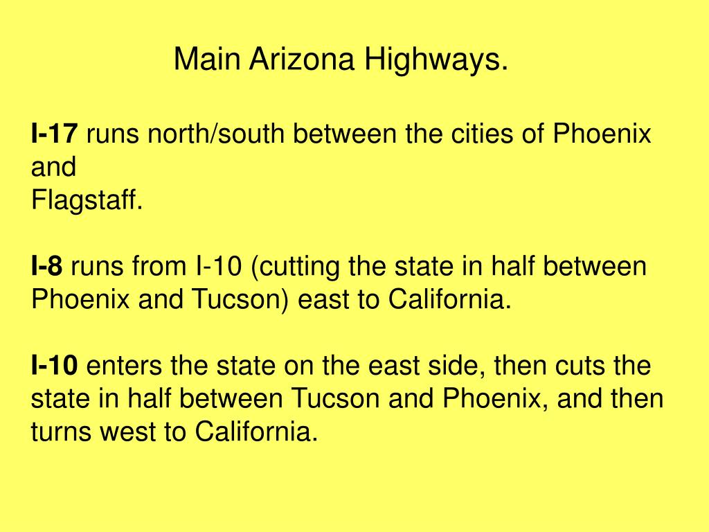 Main Arizona Highways.