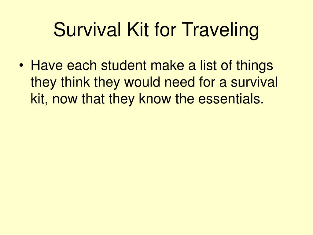 Survival Kit for Traveling