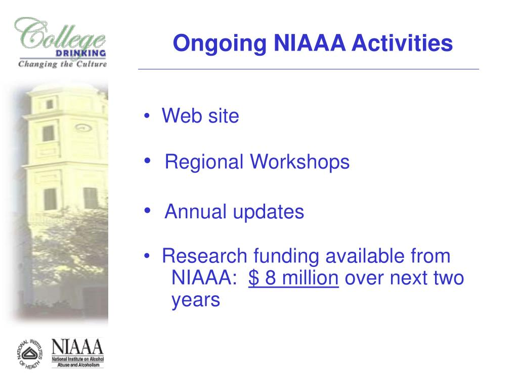 Ongoing NIAAA Activities