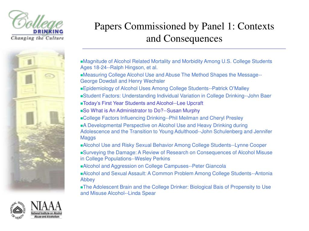 Papers Commissioned by Panel 1: Contexts and Consequences