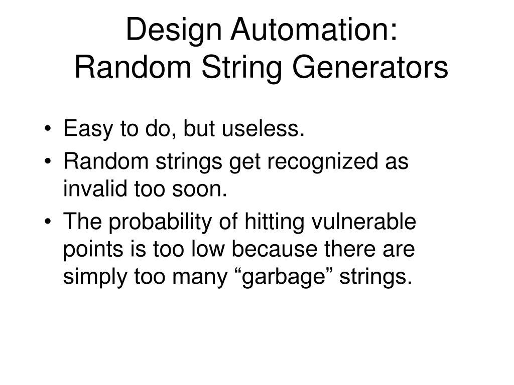 Design Automation: