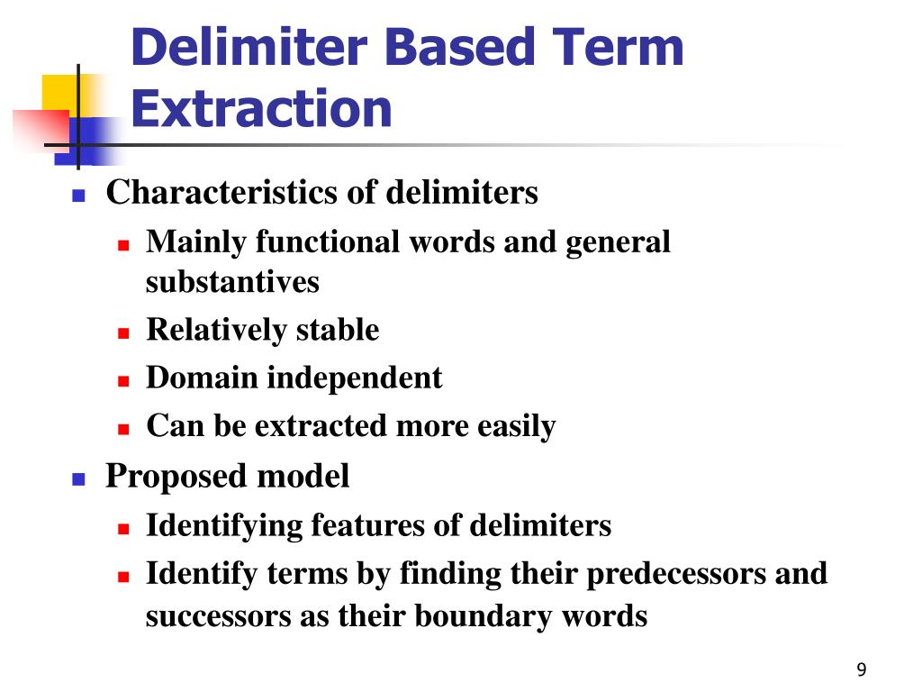 Delimiter Based Term Extraction