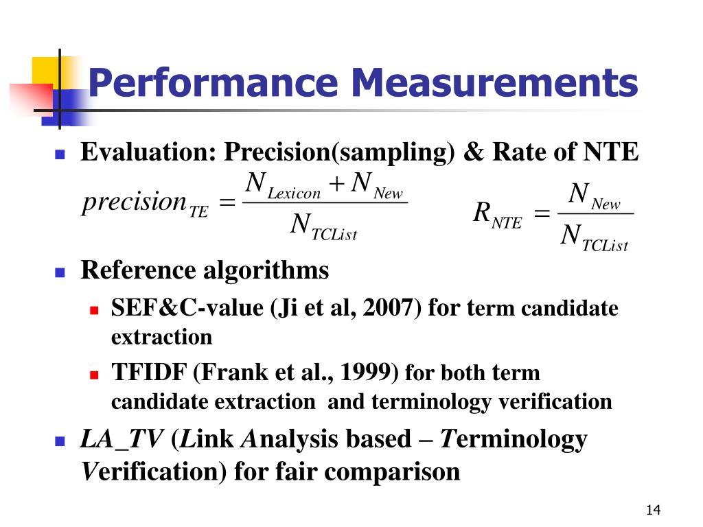 Performance Measurements