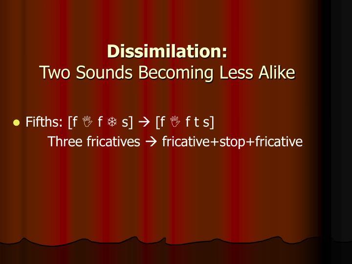 Dissimilation:
