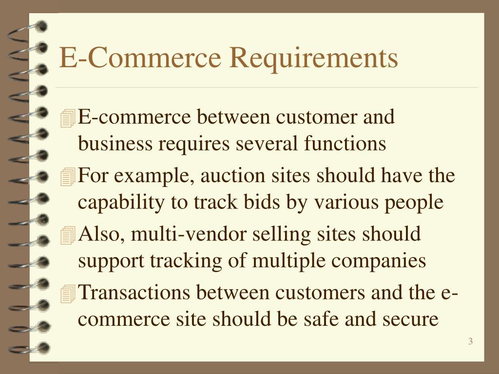 E-Commerce Requirements