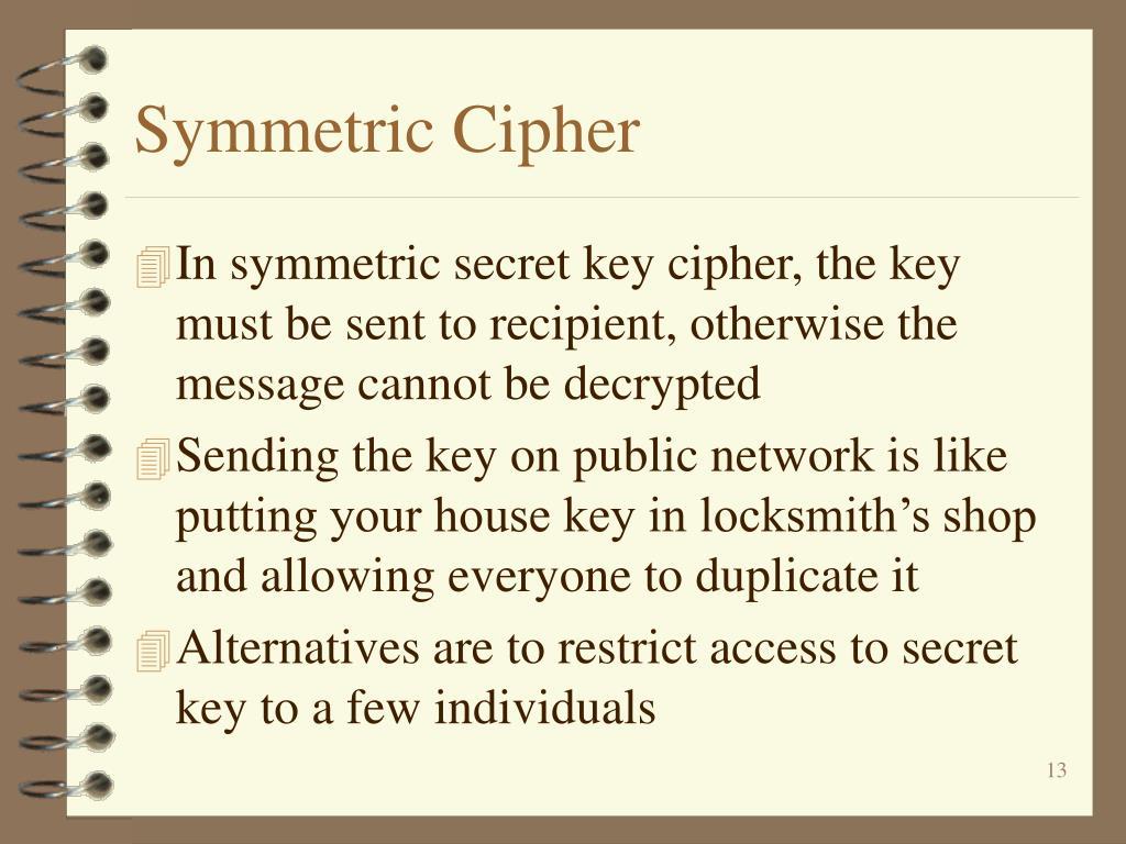 Symmetric Cipher