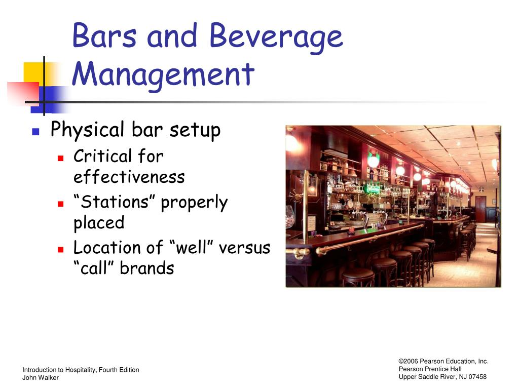 Bars and Beverage Management