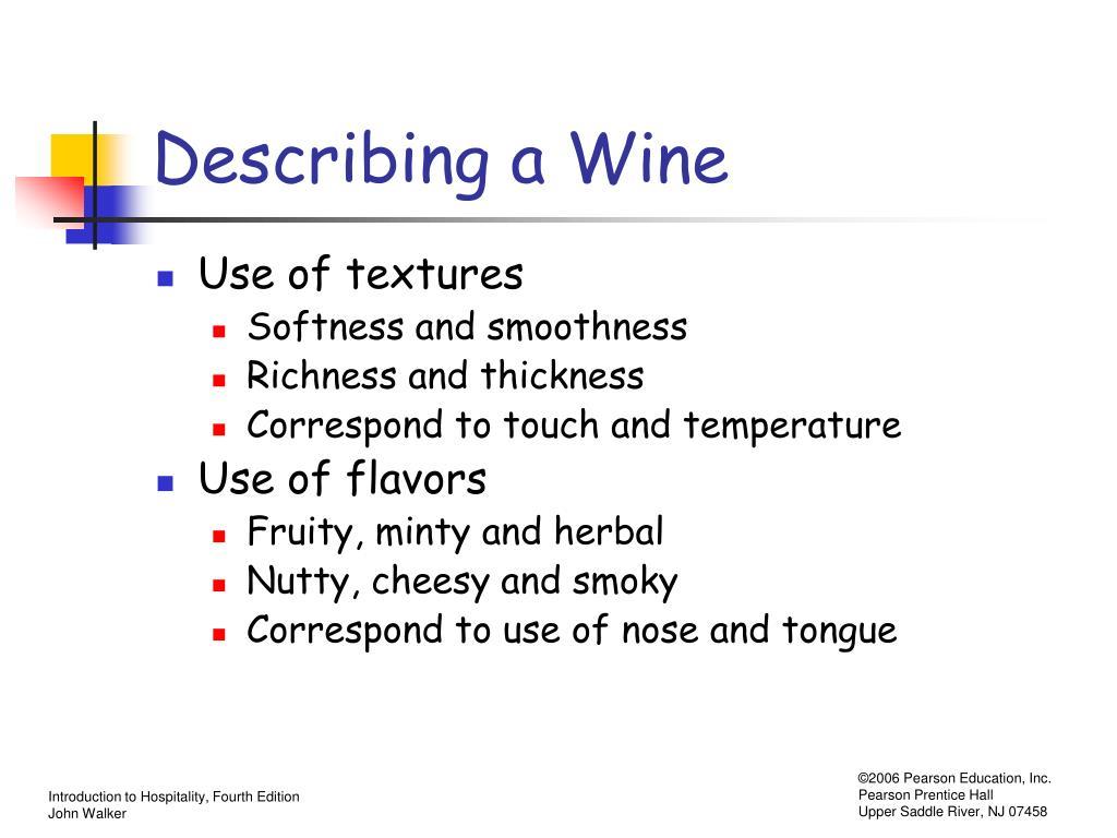 Describing a Wine