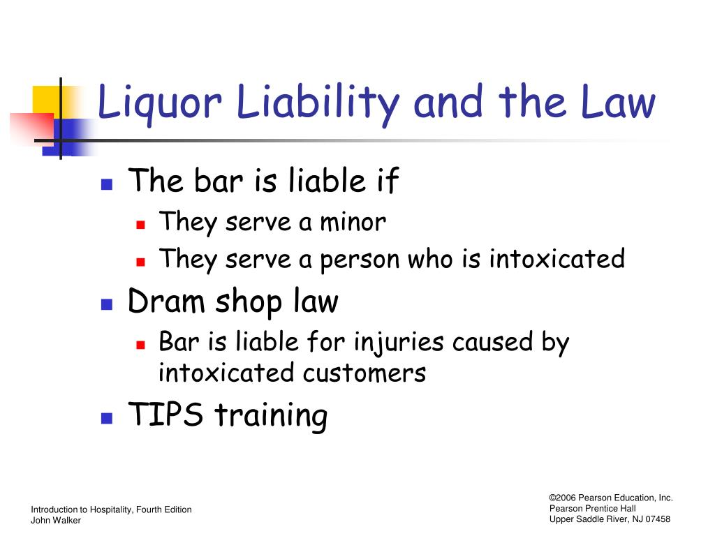 Liquor Liability and the Law