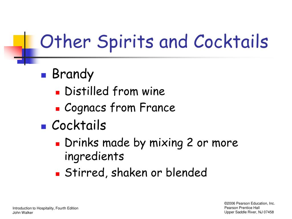 Other Spirits and Cocktails