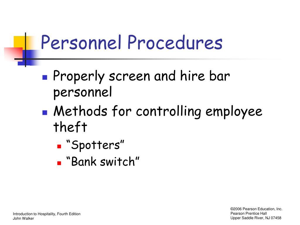 Personnel Procedures
