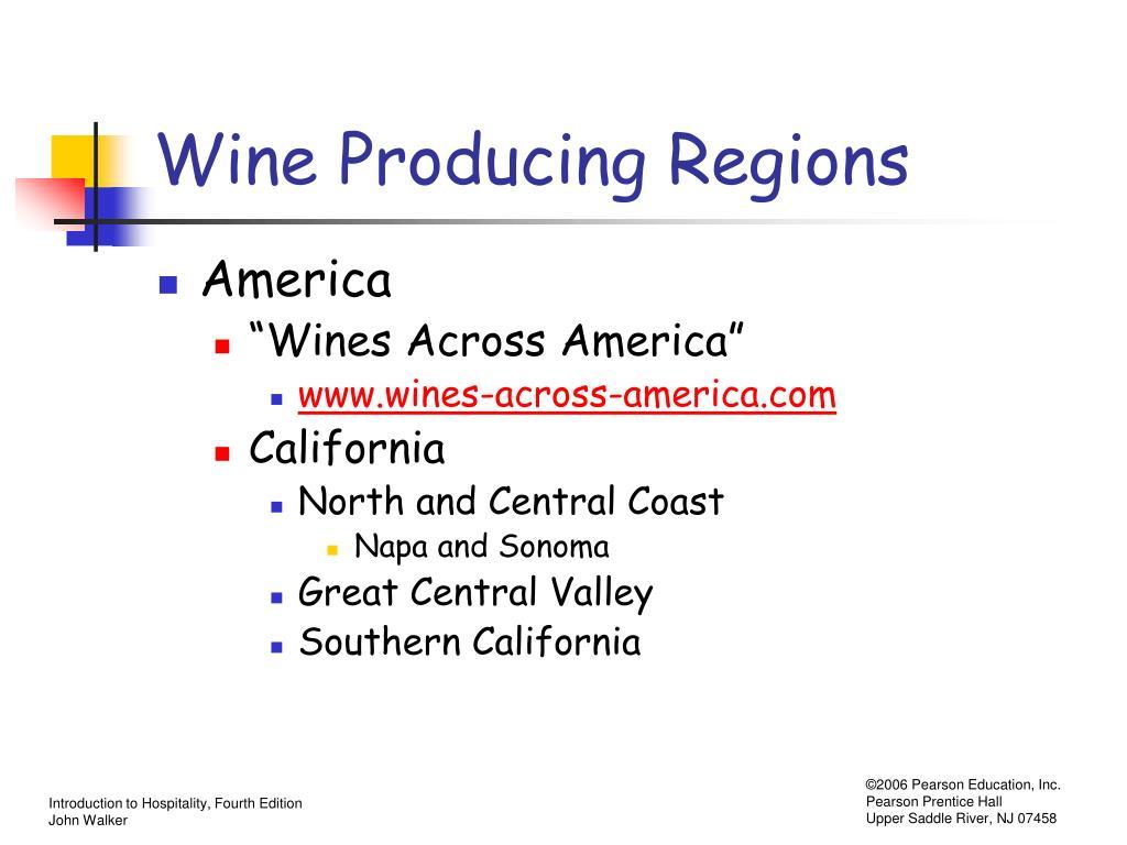 Wine Producing Regions