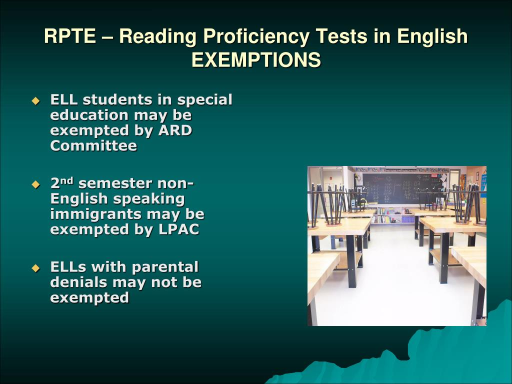 RPTE – Reading Proficiency Tests in English