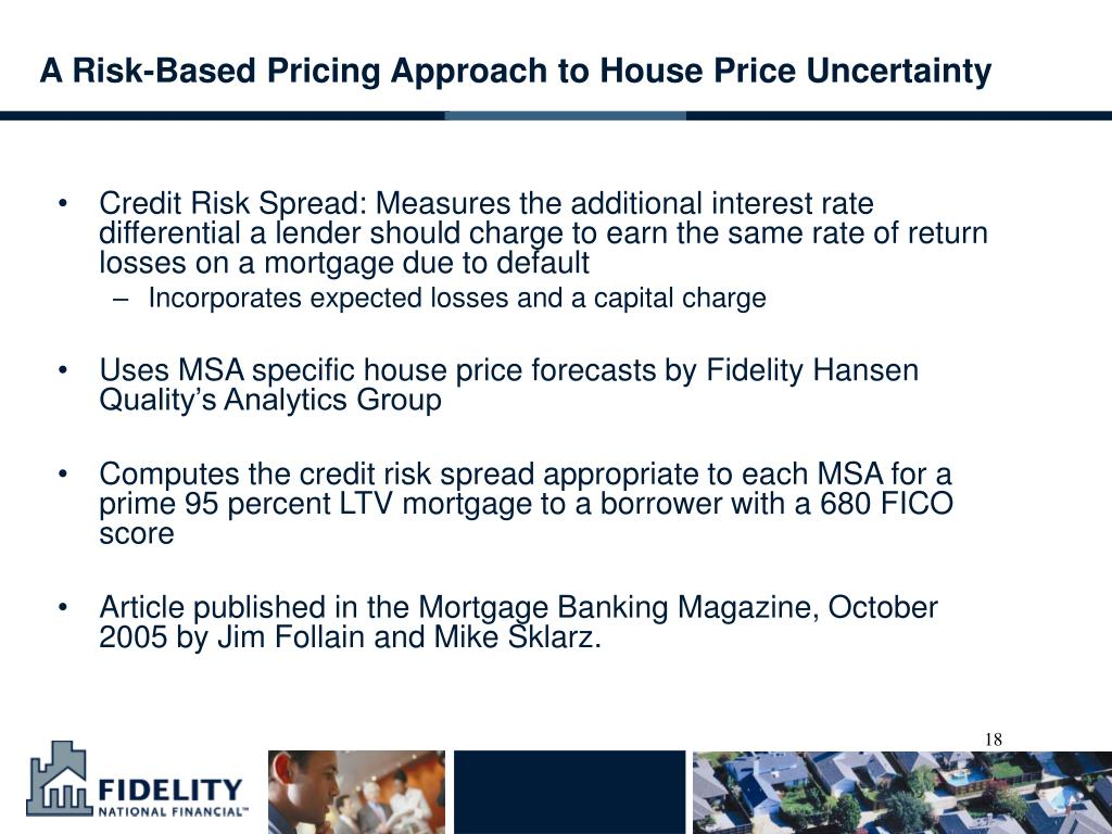 A Risk-Based Pricing Approach to House Price Uncertainty