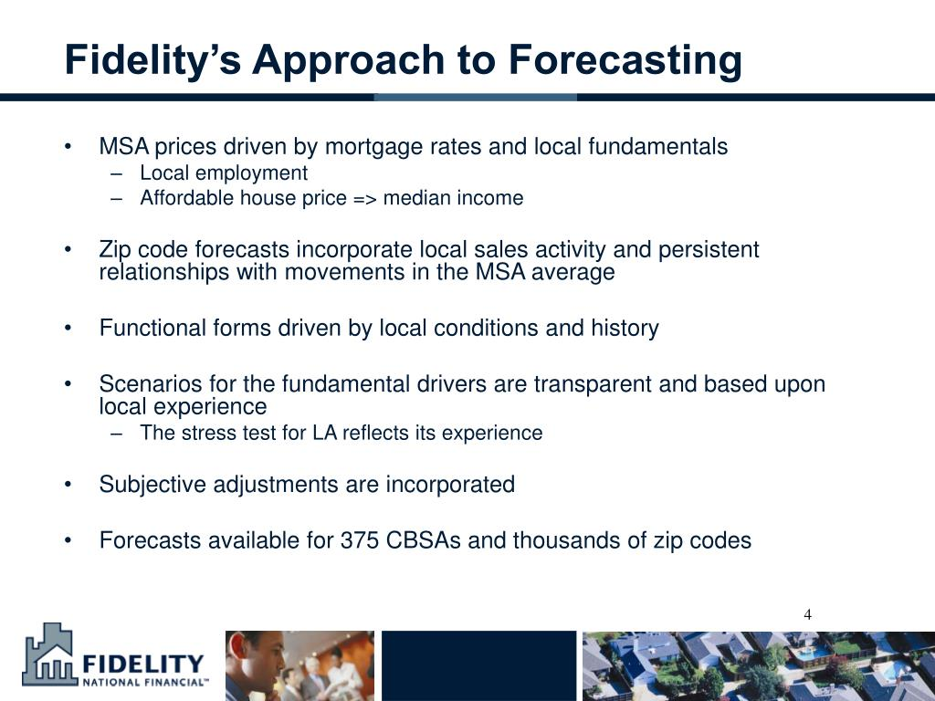Fidelity's Approach to Forecasting