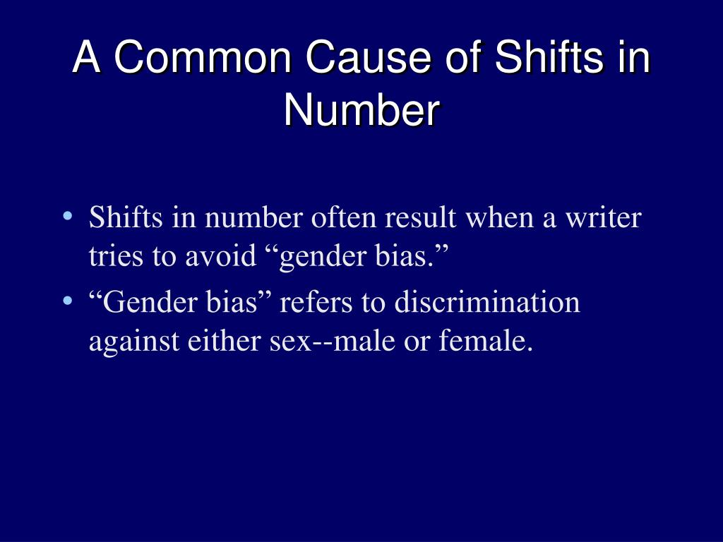 A Common Cause of Shifts in Number