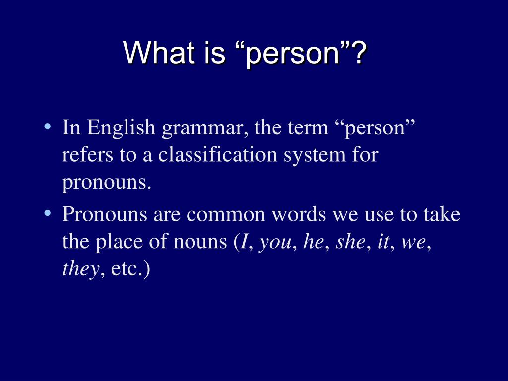 "What is ""person""?"