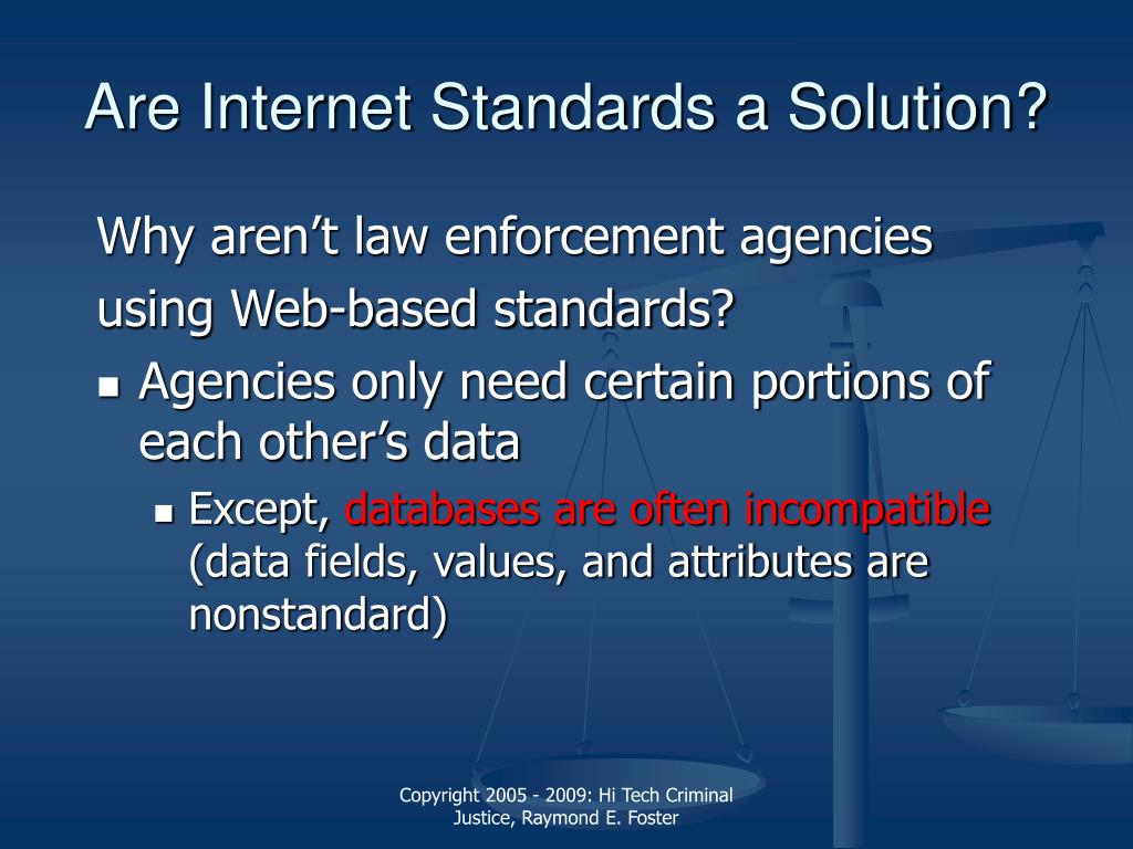 Are Internet Standards a Solution?