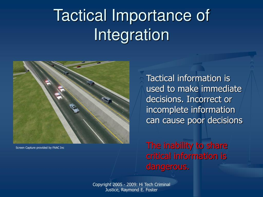 Tactical Importance of Integration