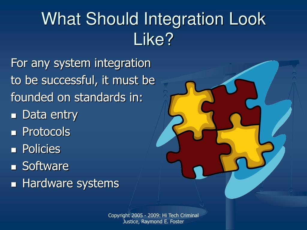 What Should Integration Look Like?