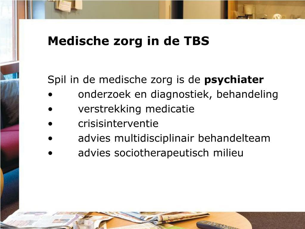 Medische zorg in de TBS