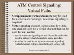 atm control signaling virtual paths