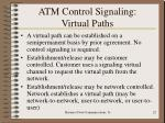 atm control signaling virtual paths22